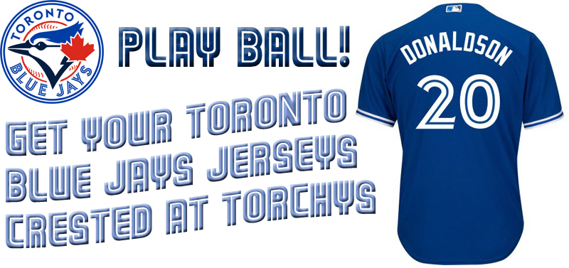 custom toronto blue jays jerseys at torchy's regina canada